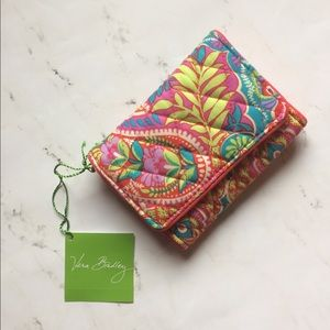 Vera Bradley Paisley in Paradise Trifold Wallet